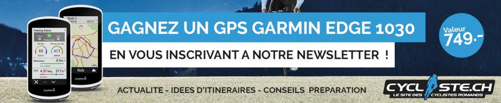 concours garmin 1030 newsletter cycliste