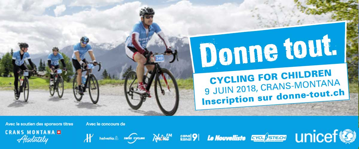 Cycling for children 2018 crans montana