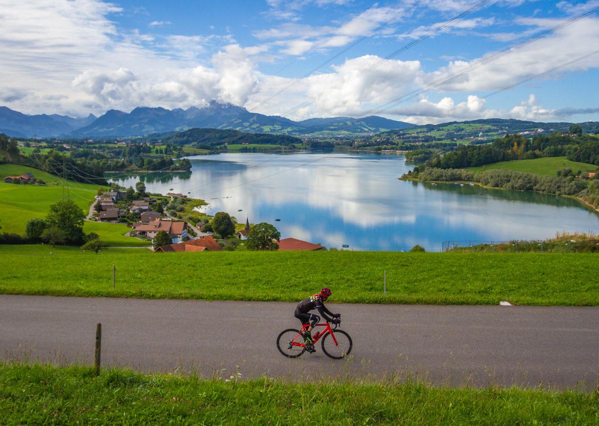 Itinéraire vélo route fribourg