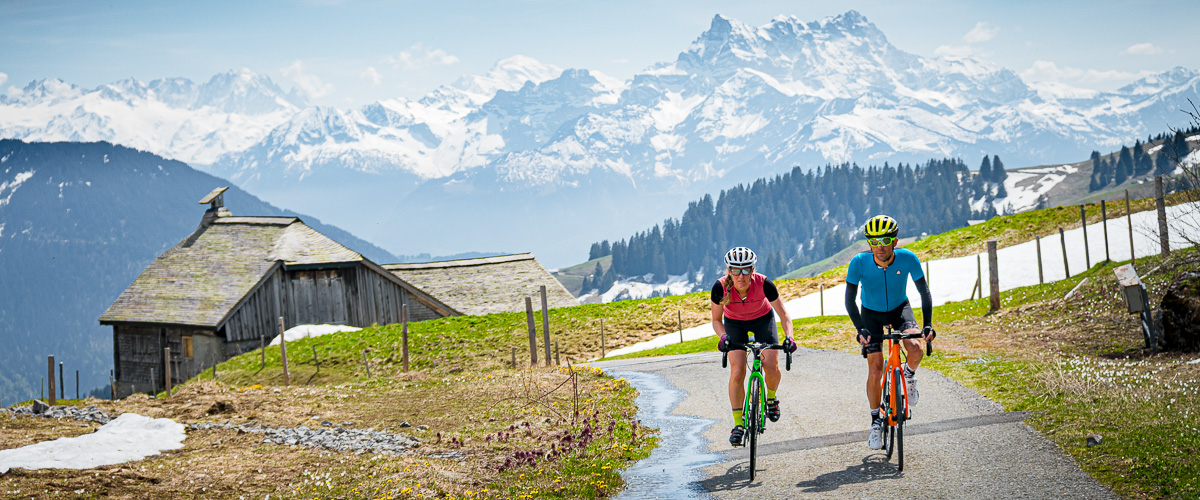 Ride the Alps Leysin vélo de route Pierre du Moëllé