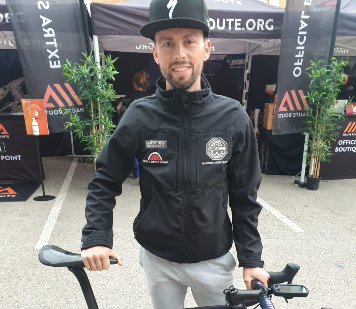 Geoffrey Lucat au départ de la Haute Route Ventoux